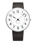 アルネ・ヤコブセン腕時計 ARNE JACOBSEN Station Watch Leather  40mm 53402-2001