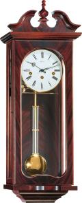 天然木の豪華なデコレーションが魅力! ヘルムレ(HERMLE)製振り子時計 Waterloo 70742-070341