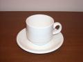 白いスタッキングコーヒーカップ&ソーサー クラシックホワイトDUDSON