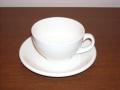 白いティーカップ&ソーサー クラシックホワイトDUDSON