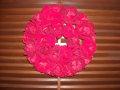豪華に華やかに飾ります! ローズリースRED φ30cm
