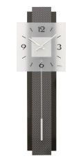 カーボン繊維模様が斬新です! AMS(アームス)振り子時計 7313