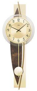 斬新デザインが目を引きます! AMS(アームス)振り子時計 7453