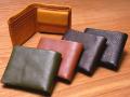 味わいのある柔らかい手触りのレザー二つ折り財布 ミネルバF4