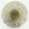 繊細な模様が美しい 掛け時計 7バードメタルクロック ゴールド