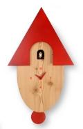 鳩時計 カッコーが鳴いて時刻を知らせます! カッコークロック イタリア・ピロンディーニNatural802rosso