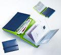 名刺やカード収納にとても便利!レザー製ビジネスカード&クレジットカードケースBL&LGRN
