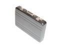 スタイリッシュなスーツケース型カードケース アルミニウムBK