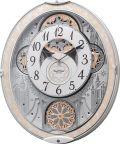 からくり時計 電波時計 スモールワールド ノエルNS 8MN407RH03 リズム時計 掛け時計 名入れ