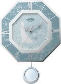 振り子が優雅に揺れます!アナと雪の女王 振り子時計 8MX405MC04  リズム時計