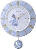 振り子が優雅に揺れます!シンデレラ 振り子時計 8MX406MC04  リズム時計