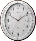 どこまでも優美に佇む有田焼きの掛け時計!エミュエールM10  8MY485EJ13 磁器掛け時計 リズム時計 無料名入れ