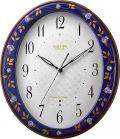 香蘭社・リズム時計共同開発品 掛け時計 ハイクオリティコレクション ルリ薔薇485 リズム時計 8MY485HG04 無料名入れ