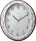 香蘭社・リズム時計共同開発品 掛け時計 ハイクオリティコレクション 染錦春蘭485 リズム時計 8MY485HG11 無料名入れ