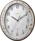 香蘭社・リズム時計共同開発品 掛け時計 ハイクオリティコレクション 花つばめ485 リズム時計 8MY485HG18 無料名入れ