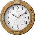 象嵌細工で高級感があふれています!電波掛け時計 アマービレM521 8MY521SR06  リズム時計