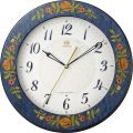 イタリア伝統工芸、象嵌細工が美しい!ハイグレード RHG-M115 インタルシア掛け時計 リズム時計 壁掛け時計 8MY545HG04