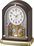 回転飾り 置き時計 ハイグレード RHG-S75 リズム時計 8RY414HG06