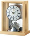 回転飾り付き ウッド置き時計 RHG-S82 リズムハイグレード 8RY415HG07 無料名入れ
