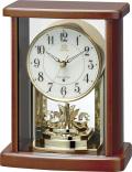 回転飾り付き ウッド置き時計 RHG-S83 リズムハイグレード 8RY416HG06 名入れ無料サービス