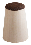 MOLDED PLYWOOD STOOL ホワイトオーク木目wood 903SH φ18(φ25.5)×33 椅子 スツール