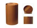 木目が綺麗でスマートな蓋付きゴミ箱 チーク木目wood955TA φ24×39cm