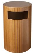 サイドテーブル&ダストボックス (テーブルゴミ箱) チーク木目wood 990T φ24×39