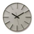 Lemnos レムノス 掛け時計 EDGE CLOCK アルミニム AZ-0115AL