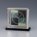 金沢箔の伝統技法と時計職人の技が生む和モダンの美!セイコー置時計 SEIKO DECOR AZ747K