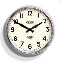 JONES Apollo Case Clock クローム  JAPO49CH 掛け時計 レトロな壁掛け時計