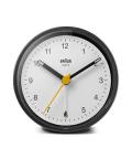 【日本正規代理店品】 BRAUNアラームクロック  BRAUN Classic Analog Alarm Clock BC12BW  BRAUN目覚まし時計  ブラウンアラームクロック