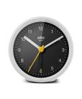 【日本正規代理店品】 BRAUNアラームクロック  BRAUN Classic Analog Alarm Clock BC12WB  BRAUN目覚まし時計  ブラウンアラームクロック