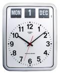 TWEMCOカレンダー時計 BQ-12Aホワイト 掛け時計