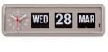 TWEMCOカレンダー時計  BQ-38GREY グレイ 置き掛け兼用時計