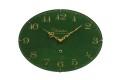お部屋をお洒落に彩る オーバルドーム掛け時計 CHAMBRE ELスタイル グリーン CH017GR R-CLOCK