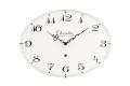 お部屋をお洒落に彩る オーバルドーム掛け時計 CHAMBRE ELスタイル ホワイト CH017WH R-CLOCK