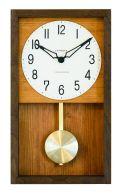 シャンブル掛け時計 機械式掛け時計を感じさせるレトロなデザインです!HINOKI 振り子時計 CHAMBRE CH033BR