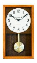 シャンブル掛け時計 機械式掛け時計を感じさせるレトロなデザインです!HINOKI 振り子時計 CHAMBRE CH033CB