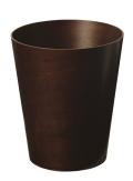 木の暖かみを感じるダストボックス(ゴミ箱) Bass wood 木目 DH903 φ25.5×30
