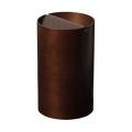 木目が綺麗でスマートな蓋付きゴミ箱 Bass wood  DH955A φ24×39cm