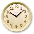 さんてる電波時間修正時計 天然木モダン置き掛け兼用時計 DQL673NA サンテル 日本製