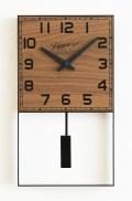 重厚感があるアイアンフレームが魅力です!HOMMAGE振り子時計ウォルナット CHAMBRE HG016WN