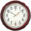 エレガントな木製フレームがお洒落です!セイコーエンブレム掛け時計 SEIKO電波時計 HS521B グリーン購入法適合商品