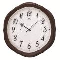 エレガントな木製フレームがお洒落です!セイコー掛け時計エンブレム SEIKO電波時計 HS544B グリーン購入法適合商品