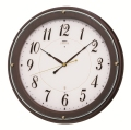 エレガントな木製フレームがお洒落です!セイコー掛け時計エンブレム SEIKO電波時計 HS545B グリーン購入法適合商品
