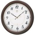 エレガントな木製フレームがお洒落です!セイコー掛け時計エンブレム SEIKO電波時計 HS547B グリーン購入法適合商品