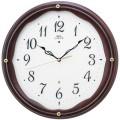 エレガントな木製フレームがお洒落です!セイコー掛け時計エンブレム SEIKO電波時計 HS551B