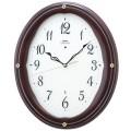 エレガントな木製フレームがお洒落です!セイコー掛け時計エンブレム SEIKO電波時計 HS552B