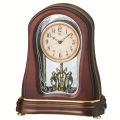 木の暖かさと優しさを感じます!セイコーメロディ置時計エンブレム  SEIKO電波置き時計 HW576B
