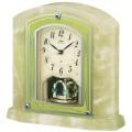 重厚な佇まいで悠然と時を刻む風格のオニキス・クロック! セイコー置時計エンブレム SEIKO電波置き時計 HW579M